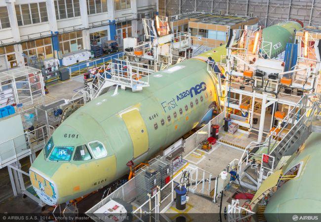 L'Airbus A320neo entra nella fase di assemblaggio finale