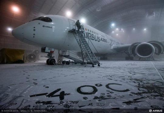 L'A350 XWB si sottopone a test climatici in Florida