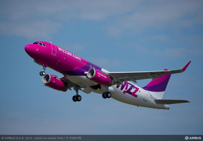 Wizz Air riceve il suo 50° Airbus A320 a Tolosa