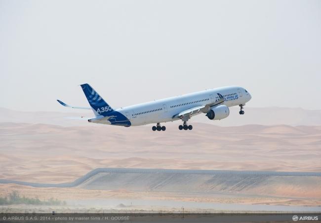 L'A350 XWB porta a termine con successo i test a temperature elevate a Al Ain