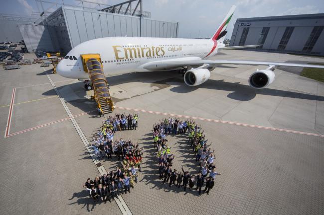 Emirates riceve il 50° A380