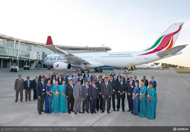 SriLankan Airlines riceve il primo di 6 nuovi Airbus A330-300 ordinati