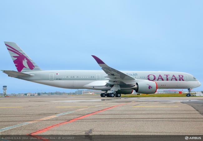 Airbus prepara l'A350 XWB per il primo cliente Qatar Airways