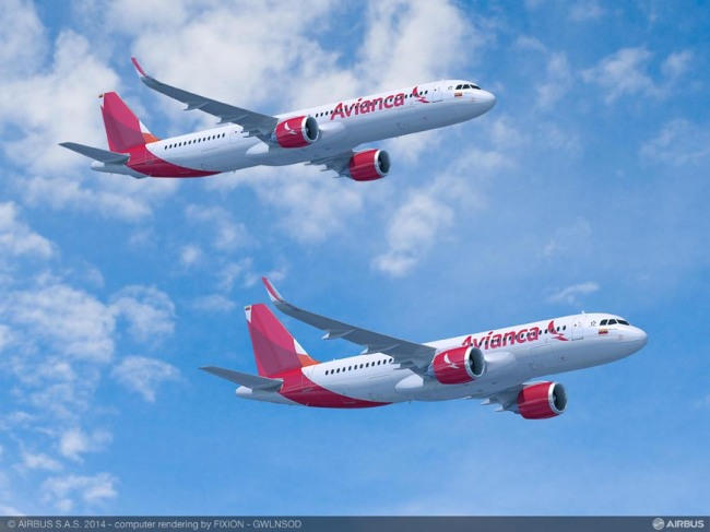 Avianca: Lettera d'Intenti per 100 Airbus A320neo