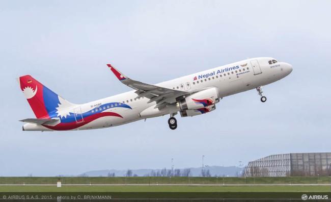 Consegnato il primo Airbus A320 con Sharklet a Nepal Airlines