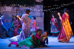 8. Meena (Anneika Rose), Manju (Anjana Vasan) and the company. Photo by Richard Hubert Smith