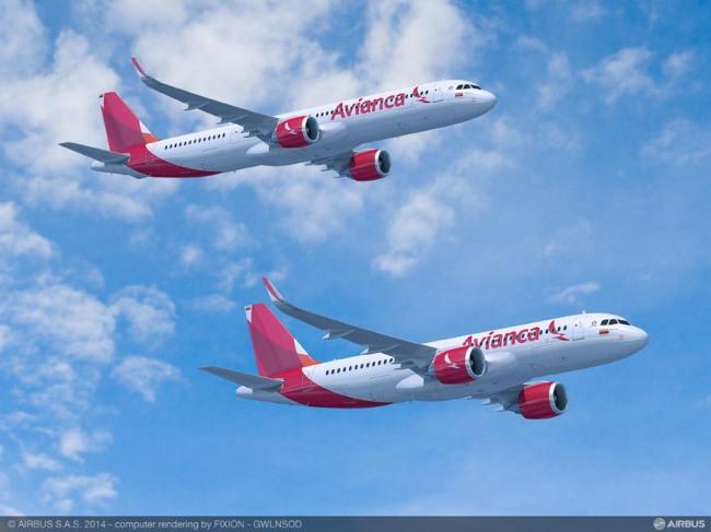 Avianca conferma un ordine per 100 aeromobili della Famiglia A320neo