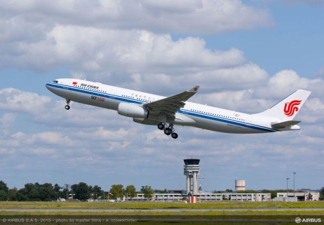 Il  50° Airbus A330 per Air China completa con successo il volo inaugurale