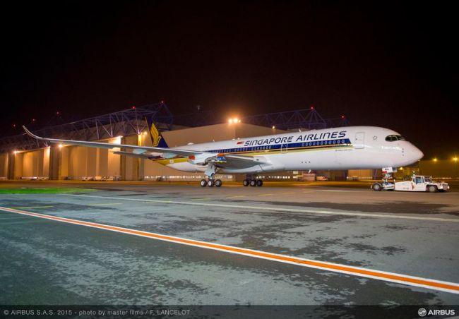 Ultimata la verniciatura del primo Airbus A350XWB di Singapore Airlines