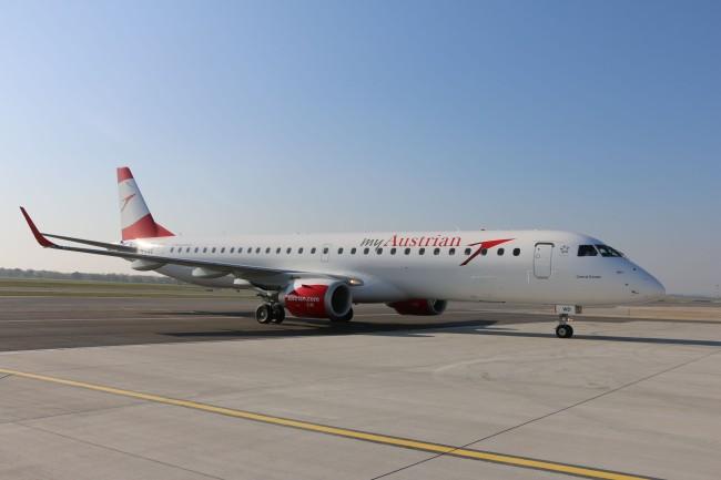 Embraer 195 presto nella flotta di Austrian Airlines