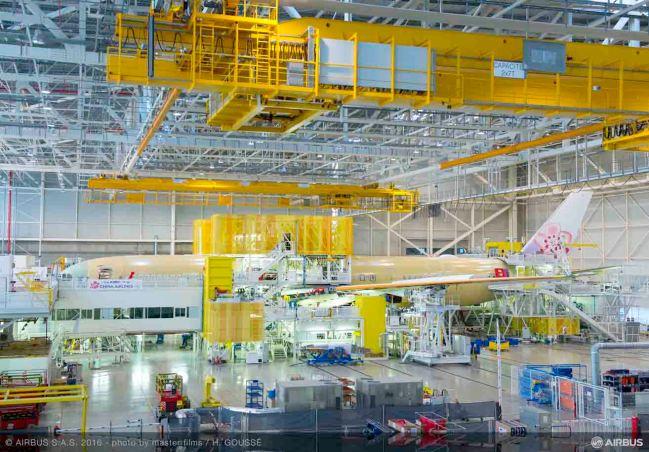 Prende forma il primo A350 XWB di China Airlines nella Linea di Assemblaggio Finale di Airbus
