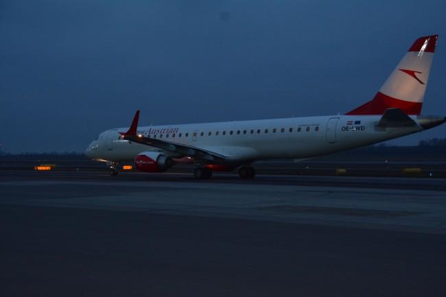 Decolla il primo jet Embraer di Austrian Airlines