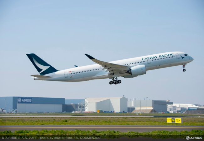 A350 XWB di Cathay Pacific