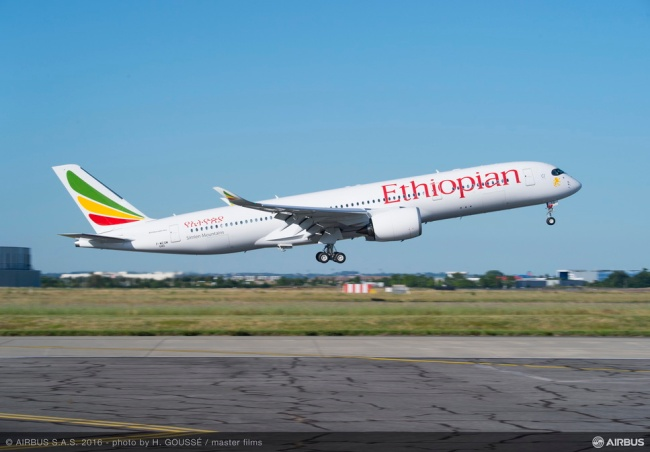 Ethiopian Airline riceve il suo primo Airbus A350 XWB