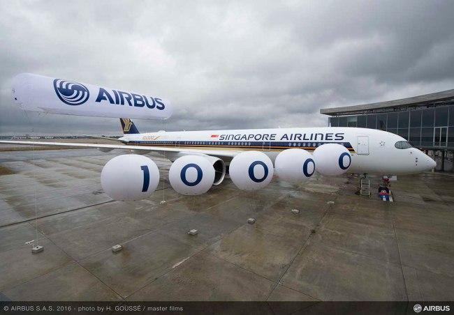 Airbus celebra la consegna del decimillesimo aeromobile