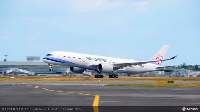 China Airlines diventa un nuovo operatore dell'A350 XWB