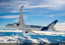 Completato con successo il volo inaugurale del primo Airbus A350-1000